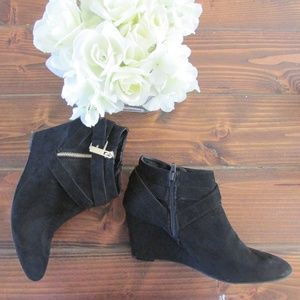 Mossimo Black Wedge Ankle Boots